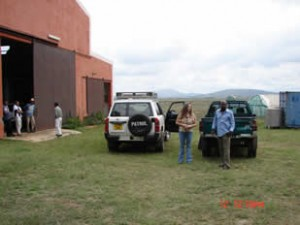Mary Lou arriving at a Young Living production facility in Madagascar