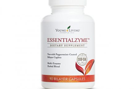 a bottle of Young Living's Essentialzyme capsules