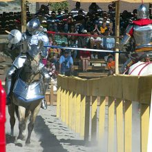 Gary Young participating in medieval jousting tournament