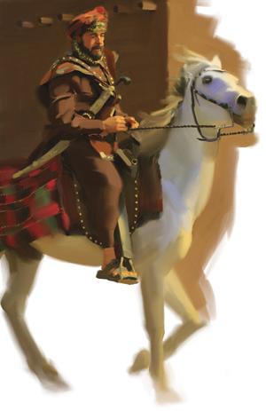 Shutran on horse
