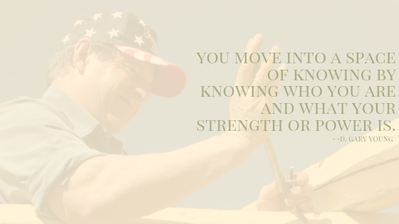 """Words: """"You move into a space of knowing..."""""""