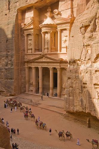 Camel caravan at Petra, Jordan