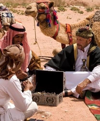 Gary Young with his Jordanian Bedouin friends