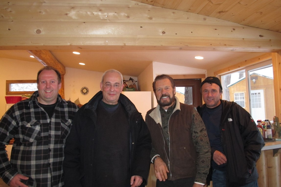 After the historical merger of three major French lavender farms, Gary hosted his partners at St. Maries Idaho. Left to right, Benoît Cassan, Jean-Noël Landel, Gary Young, and Jean-Marie Blanc.