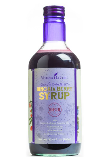 At last! A yummy syrup with berry juices and essential oils.