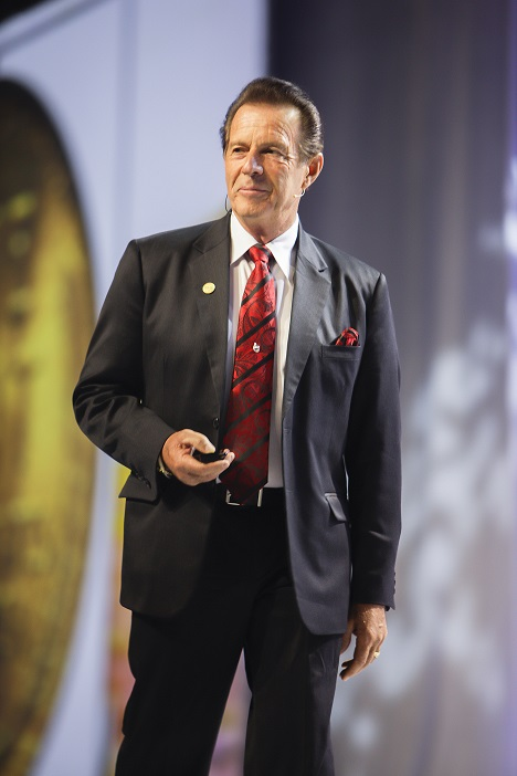Gary onstage at the 20th Anniversary Grand Convention in June 2014, where he celebrated his dream that was not too big to be lived!