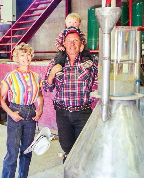 Mary and Gary Young with Baby Jacob at the Mona Distillery in Mona, Utah. Photo from Mary's new book: D. Gary Young: The World Leader in Essential Oils. Wishing you all Happy Trails in the New Year!
