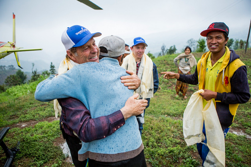 The friendly people of Yarsa village show their gratitude for the help brought them by Gary and Jacob Young and the D. Gary Young, Young Living Foundation.