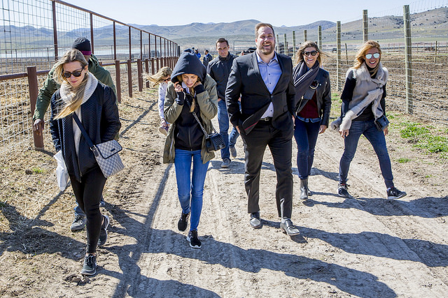 Young Living Brand Ambassadors take a tour of the Young Living Farm in Mona, Utah.