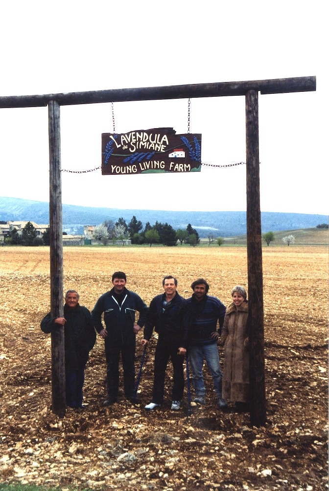 New sign at Simiane-La-Rotonde farm in Provence, 2003.