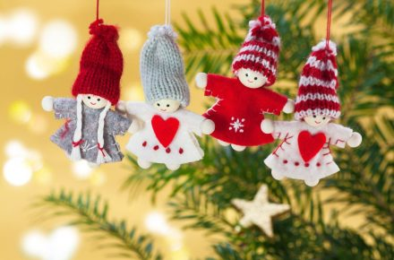 stuffed angel Christmas tree ornaments